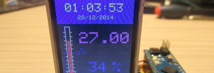 Termometru cu ceas bazat pe Arduino si ESP8266