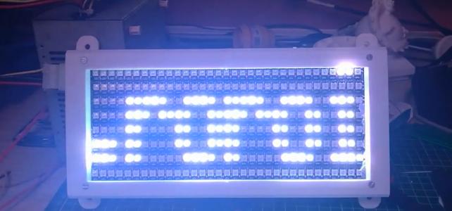 Display matrice 33×8 cu leduri ws2812 (neopixeli)